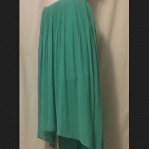 Women's small Lauren Conrad green maxi skirt